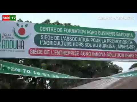 Adja Sanogo, promotrice de l'agriculture hors sol ouvre les portes du 1er Centre de Formation.