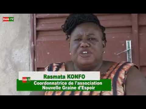 Rasmata Konfé, une femme soucieuse des autres malgré son handicap.